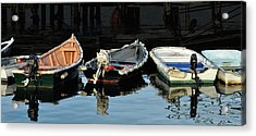Boats Acrylic Print by Joanne Brown