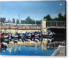 Boats Of Regent's Canal  London Uk Acrylic Print by Victor SOTO