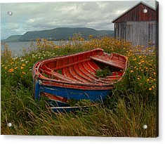 Boats  Shore In Time Acrylic Print