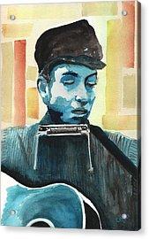 Bob Dylan Acrylic Print by Chris Cox