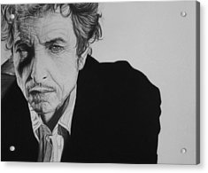 Bob Dylan Acrylic Print by Steve Hunter