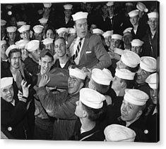 Bob Hope Entertaining Sailors Acrylic Print by Everett