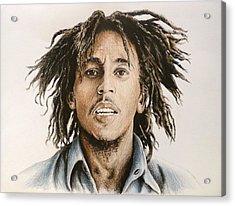 Bob Marley Acrylic Print by Andrew Read