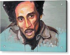 Bob Marley Acrylic Print by Matt Burke
