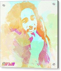 Bob Marley Acrylic Print by Naxart Studio