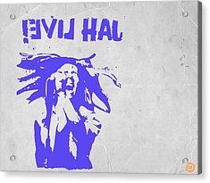 Bob Marley Purple 2 Acrylic Print by Naxart Studio