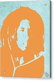 Bob Marley Yellow 2 Acrylic Print by Naxart Studio