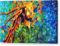 Bob Marley's Tribute Acrylic Print by Jose Miguel Barrionuevo