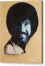 Bob Ross Acrylic Print by Tom Evans