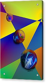Bocce Acrylic Print by Anthony Caruso