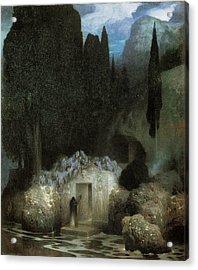 Bocklin's Tomb Acrylic Print by Ferdinand Keller