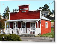 Bodega Post Office . Bodega Bay . Town Of Bodega . California . 7d12455 Acrylic Print by Wingsdomain Art and Photography