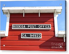 Bodega Post Office . Bodega Bay . Town Of Bodega . California . 7d12465 Acrylic Print by Wingsdomain Art and Photography