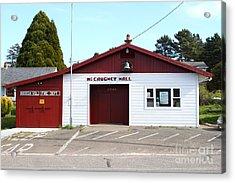 Bodega Volunteer Fire Department . Bodega Bay . Town Of Bodega . California . 7d12450 Acrylic Print by Wingsdomain Art and Photography