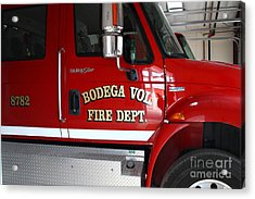 Bodega Volunteer Fire Department Fire Engine . Bodega Bay . Town Of Bodega . California . 7d12459 Acrylic Print by Wingsdomain Art and Photography