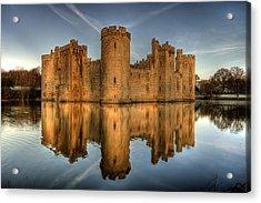 Bodiam Castle Acrylic Print by Mark Leader
