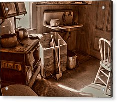 Bodie California Ghost Town Kitchen Acrylic Print