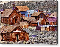 Bodie Ghost Town California Acrylic Print by Garry Gay