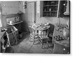 Bodie Ghost Town Kitchen Acrylic Print