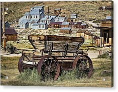 Bodie Wagon Acrylic Print by Kelley King