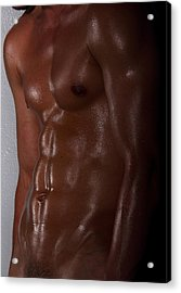 Body Art Acrylic Print by Mark Ashkenazi