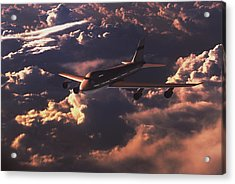 Boeing 747 Acrylic Print by Mike Miller