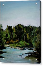 Boise River From Greenbelt Acrylic Print