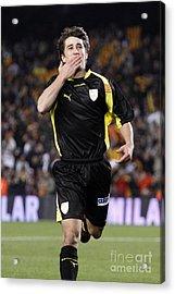 Bojan Krkic Celebrating A Goal 2 Acrylic Print