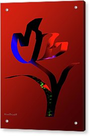 Acrylic Print featuring the digital art Bold And Beautiful by Asok Mukhopadhyay