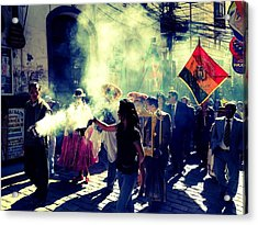 Bolivia Celebrations   Acrylic Print