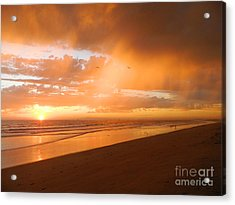 Acrylic Print featuring the photograph Bolsa Chica Sunset by Everette McMahan jr
