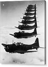 Bombers In Flight Acrylic Print by Archive Photos