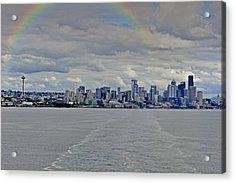 Bon Voyage Seattle Acrylic Print