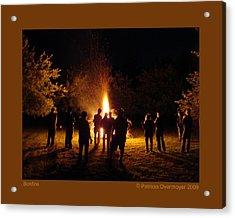 Bonfire Acrylic Print by Patricia Overmoyer