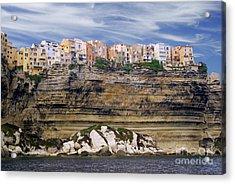 Bonifacio From The Sea Acrylic Print by Rod Jones