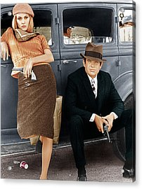 Bonnie And Clyde, From Left Faye Acrylic Print by Everett