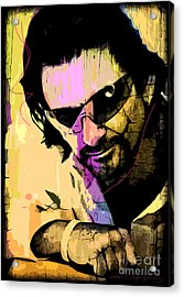 Bono Acrylic Print by David Lloyd Glover