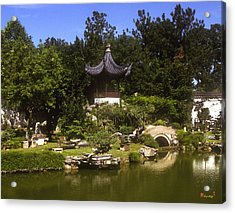 Acrylic Print featuring the photograph Bonzai Garden And Gazebo 19l by Gerry Gantt