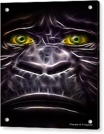 Acrylic Print featuring the digital art Boo Boo 02 by Kevin Chippindall