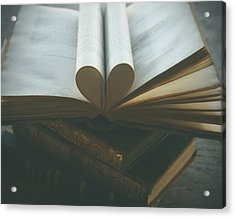 Book Lover Acrylic Print by Georgia Fowler