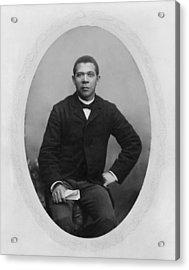 Booker T. Washington 1856-1915,  Ca Acrylic Print by Everett
