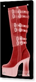 Boot, X-ray Acrylic Print by Ted Kinsman