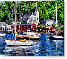 Boothbay Harbor Acrylic Print by Stephen Younts