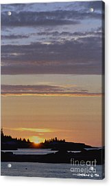 Boothbay Maine Sunrise 1 Acrylic Print
