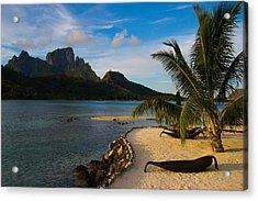 Bora Bora Beach Acrylic Print by Benjamin Clark