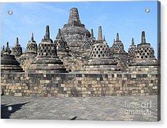 Borobudur Mahayana Buddhist Monument Acrylic Print by Mark Taylor