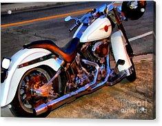 Boss Hog . Harley-davidson .  7d12757 Acrylic Print by Wingsdomain Art and Photography