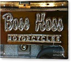 Boss Hoss Acrylic Print by Newel Hunter