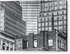 Boston Building Facades II Acrylic Print by Clarence Holmes