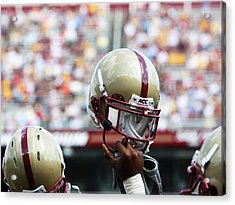 Boston College Helmet Acrylic Print by John Quackenbos